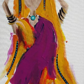 Bollywood #3 by Christine Donaldson