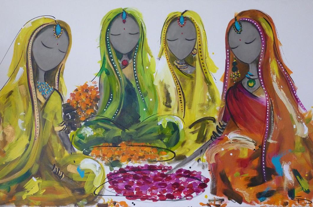 Bollywood Flower Market by Christine Donaldson