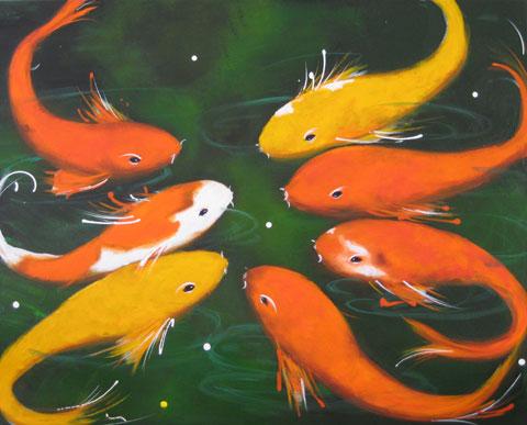 Lily Pond 1 by Christine Donaldson