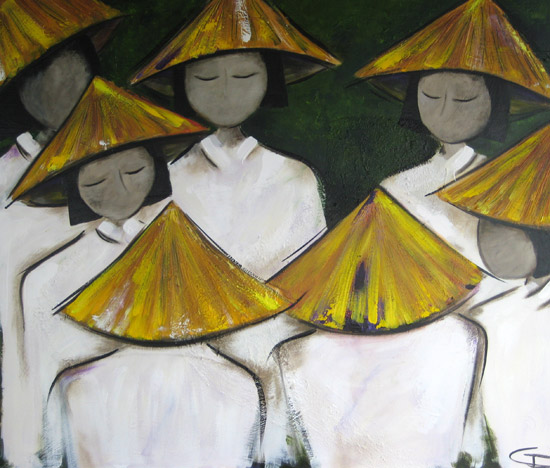 Vietnam Schoolgirls #5 by Christine Donaldson